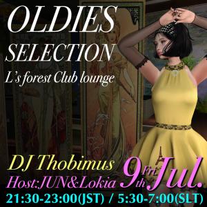 7/9(金)オールディーズ☆セレクション DJ Thobi @L's forest Club lounge