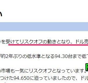 リスク回避スタート!トルコリラ15.3円台に下落