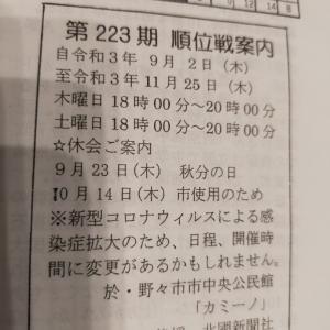 今週木曜日は野々市お休みです。&大会情報(石川県)