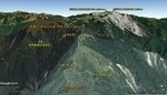 俯瞰図:南華山(能高山北峰)