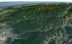 俯瞰図:白姑大山