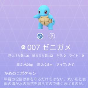 ポケモン紹介 図鑑ナンバー7 ゼニガメ