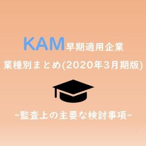 KAM(監査上の主要な検討事項)早期適用企業(2020年3月期)主要32社 業種別まとめ #47