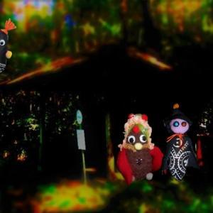 異界のバス停と物の怪     森で見た小さな猛禽