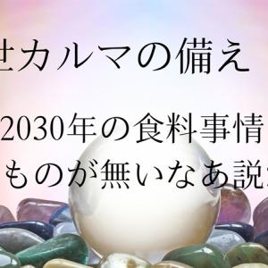 前世カルマの備え 116  2030年の食料事情、食えるものが無いなあ説が有力