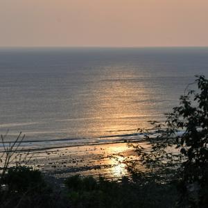 渚のサーフ物語。「オフショアの風が吹くクリーンフェイスの波間を走るサーフボードが切り取ったのは朝焼けの頃の海辺のワンシーン」の巻。