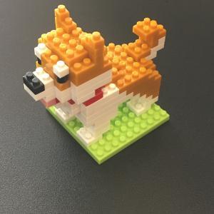 ダイソープチブロックで柴犬作り黒柴と白柴も作成!ナノブロックとの違いは?