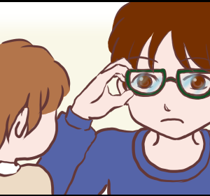 ゆうくんはメガネがお好き