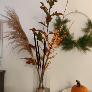 拾った秋の枝