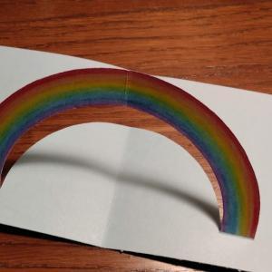 虹のカード。Rainbow Card