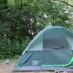 キャンプ‐ミネオパ州立公園。Camping-Minneopa Sate Park