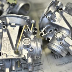 ②GSX-R1100K キャブメンテOH メインハーネス交換 デイトナ AQUAPROVA(アクアプローバ)HG TEMP METER取り付け ミシュランROAD5タイヤ交換