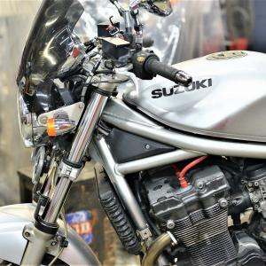 バンディット1200 車検 油冷メンテ フォークオイル交換 燃料ホース交換