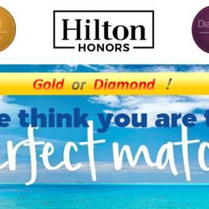 ヒルトンのステータスマッチ*一気にゴールド&ダイヤモンド会員へ!【SPGアメックス利用】