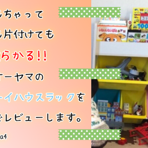 子供がおもちゃを片付けない!収納するため【ETHR-26】を購入!