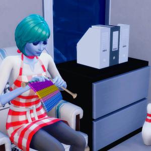 お世話係の情熱編み物