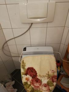 ドイツのトイレにウォシュレットを取付(日本製ウォシュレット編)