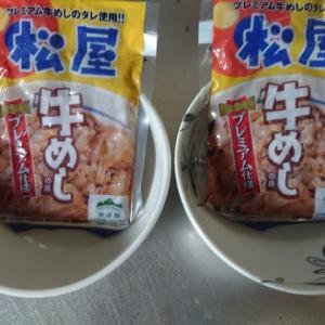 松屋の冷凍の牛丼は便利~♪