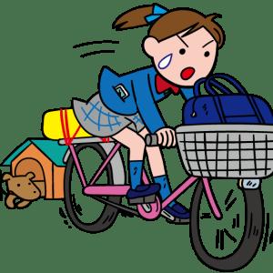 雨は夜間。強風が明日まで吹くようだ!自転車通学は辛い