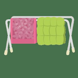 天気がよく掛ふとんカバー洗濯と布団干しがやっとできる