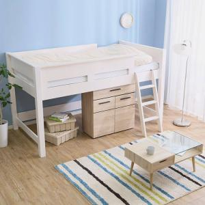 子供部屋におすすめなのは【LOWYA】のミドルベッド!