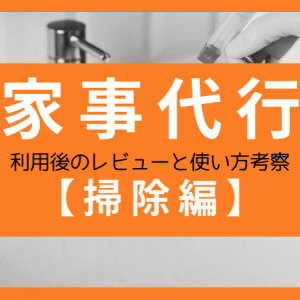 夢の家事代行!!利用後のレビューと使い方考察【掃除編】