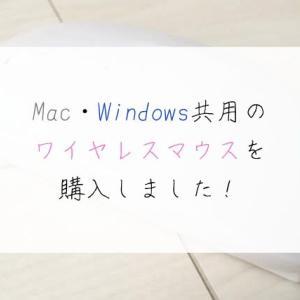 Mac・Windows共用のワイヤレスマウスを購入しました!