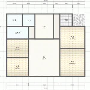4人家族 平屋新築の間取りを検討