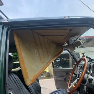 ジムニー天井崩壊の修理 DIY