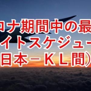 コロナ期間中の日本‐マレーシア間の飛行機の最新情報を得る