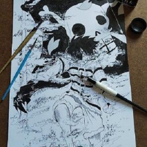 ワンピース チョッパー編の名シーン描いてみました。ルフィがその身を挺して語った海賊旗の重さ!