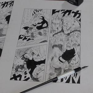 ドラゴンボールコミックス23巻の漫画模写。