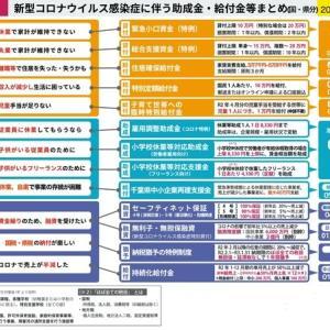 新型コロナウイルス感染症に伴う給付金・助成金一覧(5月10日時点)