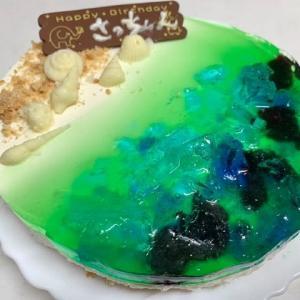 誕生日のビーチケーキ