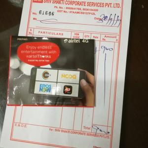 AirtelでSIMカードを買う@デリー空港