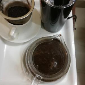 急須でコーヒー
