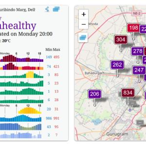 Diwali後の大気汚染