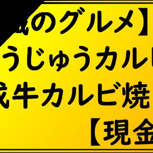 【無職のグルメ】じゅうじゅうカルビ 熟成牛カルビ焼肉丼【現金版】