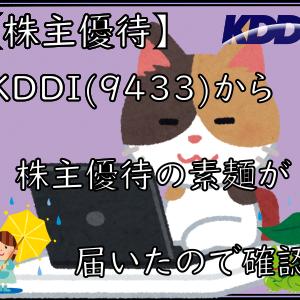 【株主優待】KDDI(9433)から株主優待の素麺が届いたので確認