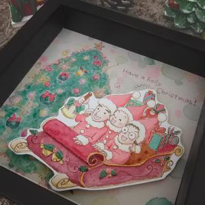 『クリスマスイラスト☆似顔絵サンタさん』アートBOX・受注始めました