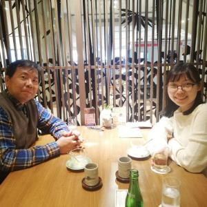 広島で働いているITエンジニアと食事(元教え子です)