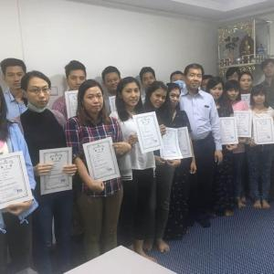 特定技能評価試験(宿泊業)がヤンゴン市内で行われました