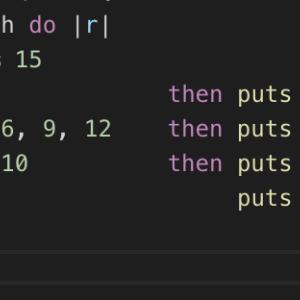 FizzBuzz問題をブロック付きメソッドで解いてみた。(Ruby )