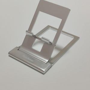 【おすすめ】お値段699円!角度調整のできるミニマル&小さい金属製スマホ/タブレットスタンド、Reodoeerの超薄型折り畳み式 スマホスタンドをレビュー!