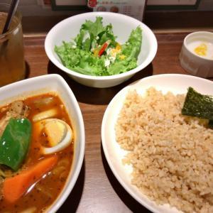 秋葉原駅から徒歩1分 ヨドバシカメラ8F カレー食堂 心 の辛さが選べるスープカレーを食べてみた