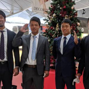 中日・根尾、阿知羅、鈴木博、石橋の4選手と工藤コーチが台湾へ出発 11月23日開幕台湾WLに参加