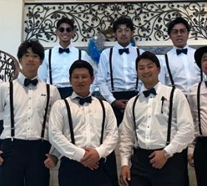 中日・田島慎二投手、大野雄大投手ら 小熊凌祐投手の結婚式に参列する