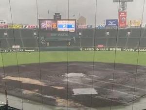9月17日(金) セ・リーグ公式戦「阪神vs.中日」が台風接近のため中止に…