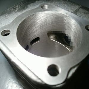 ☆★作業依頼車両 JOG90(3WF)4DMシリンダー(54mm) フルポート加工的なぁ~完成☆★3RY JOG  アクシス90