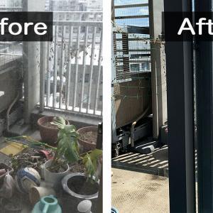 ベランダ掃除を業者に依頼・めんどくさい植木鉢も片付いた!
